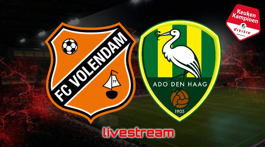 KKD live stream FC Volendam - ADO Den Haag