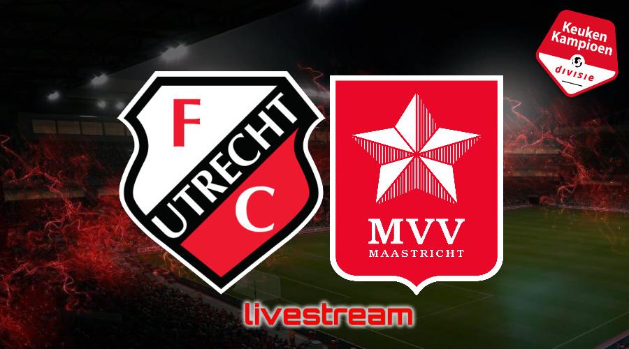 KKD live stream Jong FC Utrecht - MVV Maastricht