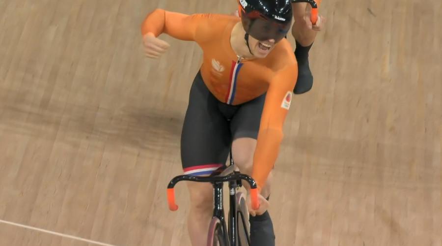 Lavreysen klopt Hoogland in Olympische finale