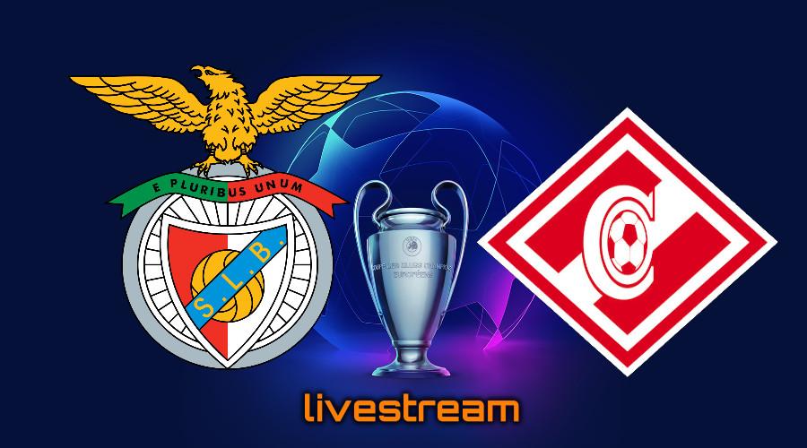 live stream Benfica - Spartak Moskou Champions League