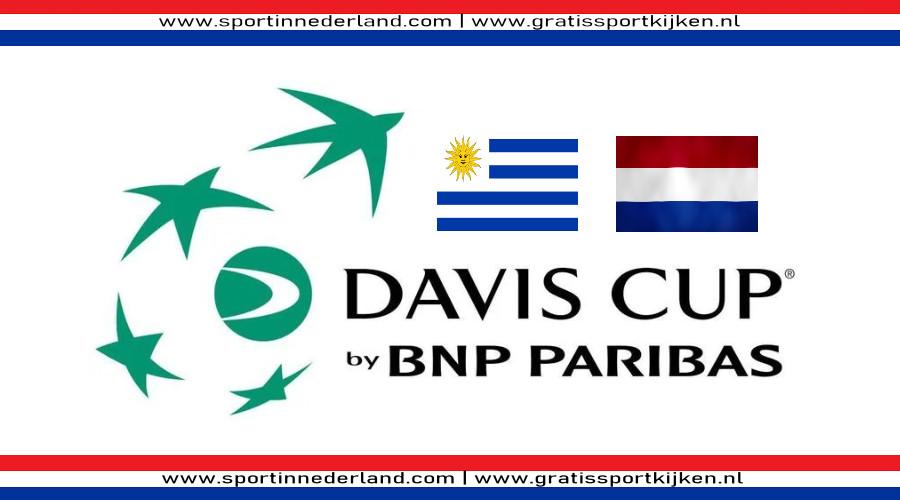 Davis Cup live stream Uruguay - Nederland
