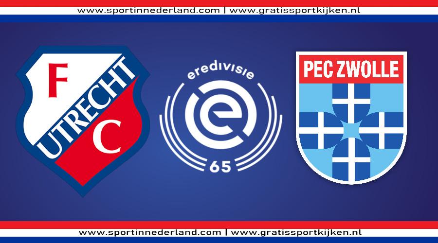 Eredivisie live stream FC Utrecht - PEC Zwolle