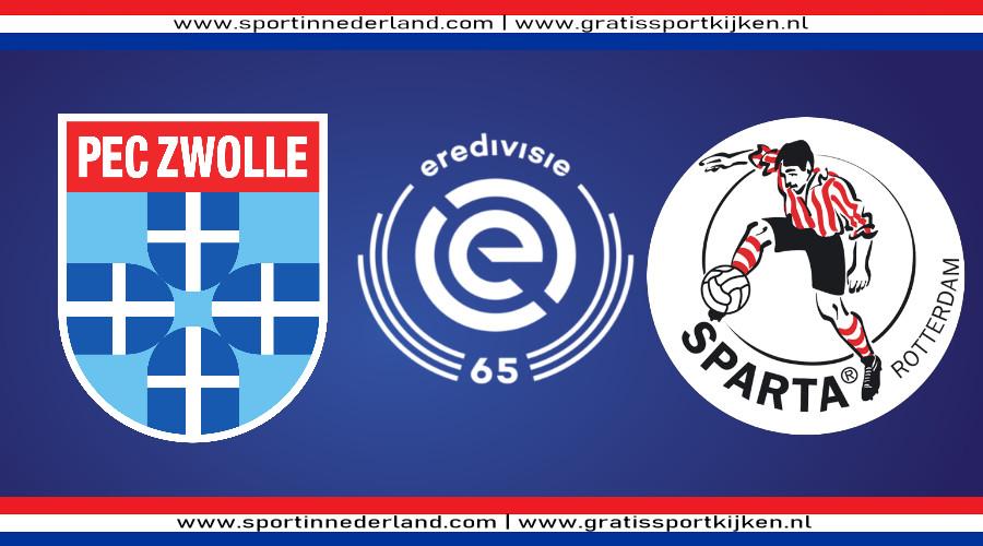 Eredivisie live stream PEC Zwolle - Sparta
