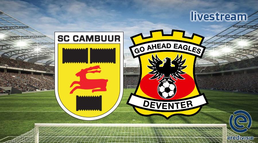 Eredivisie live stream SC Cambuur - Go Ahead Eagles