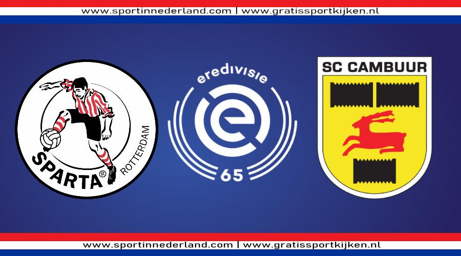 Eredivisie live stream Sparta - SC Cambuur