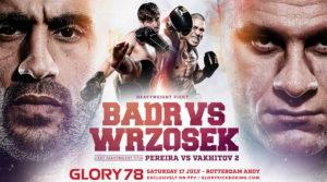 Glory 78 Spike livestream Badr vs Wrzosek (Foto Glory)
