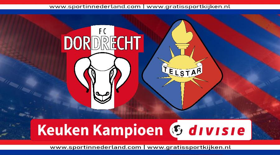 KKD live stream FC Dordrecht - Telstar