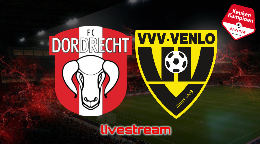 KKD live stream FC Dordrecht - VVV-Venlo