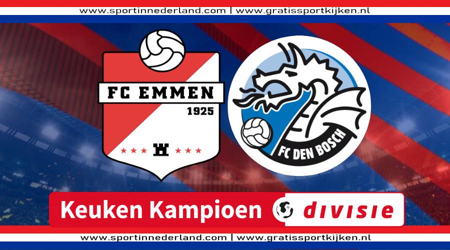 KKD live stream FC Emmen - FC Den Bosch