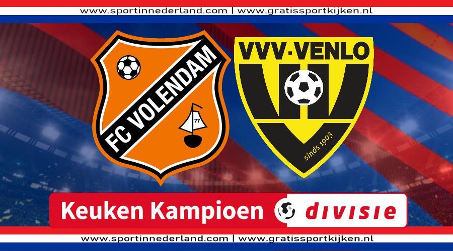 KKD live stream FC Volendam - VVV Venlo