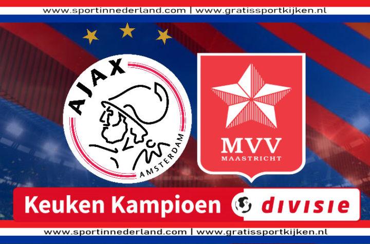 KKD live stream Jong Ajax - MVV