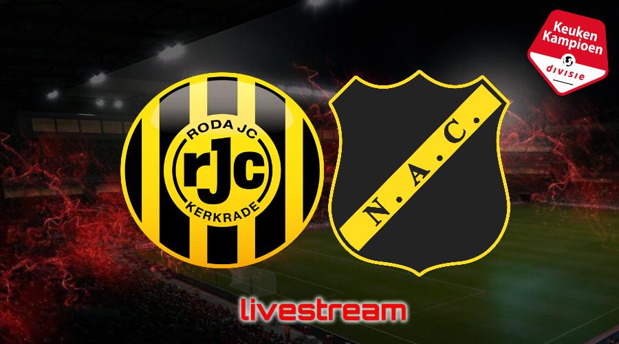 KKD live stream Roda JC - NAC Breda