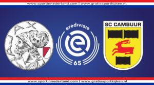 Live stream Ajax - SC Cambuur