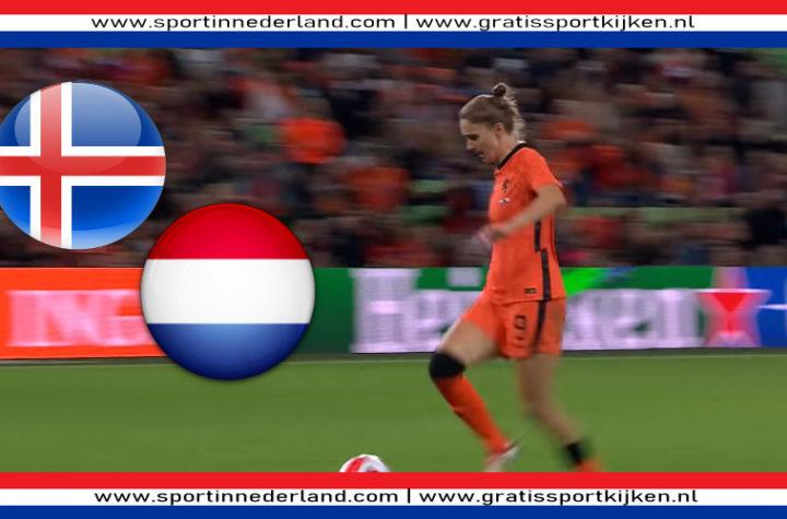 Live stream IJsland - Nederland