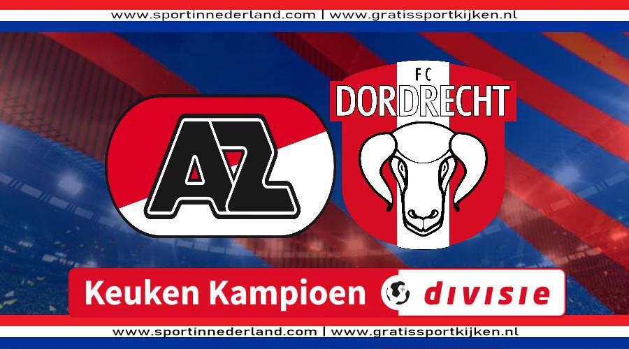 Live stream Jong AZ - FC Dordrecht