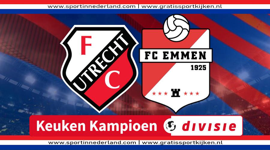 Live stream Jong FC Utrecht - FC Emmen