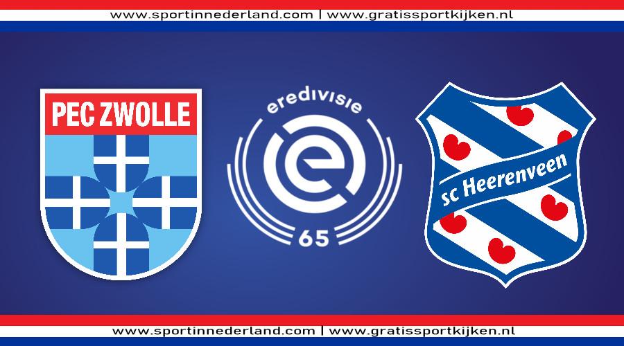 Live stream PEC Zwolle - SC Heerenveen