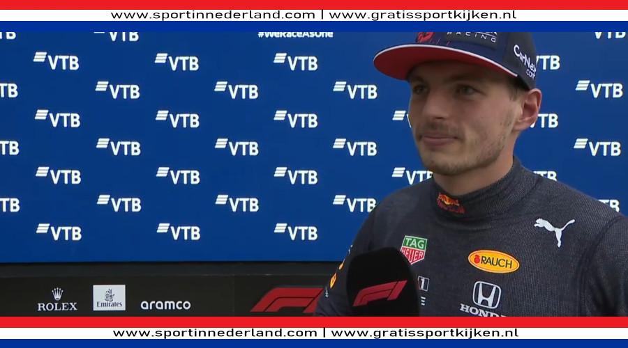 Max Verstappen erg tevreden met tweedde plaats on Sotsji
