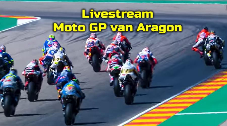 Moto GP van Aragon kijken via een livestream