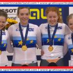 EK goud voor dames op onderdeel teamsprint