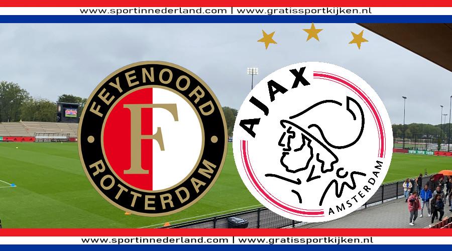 Eredivisie vrouwen live stream Feyenoord - Ajax