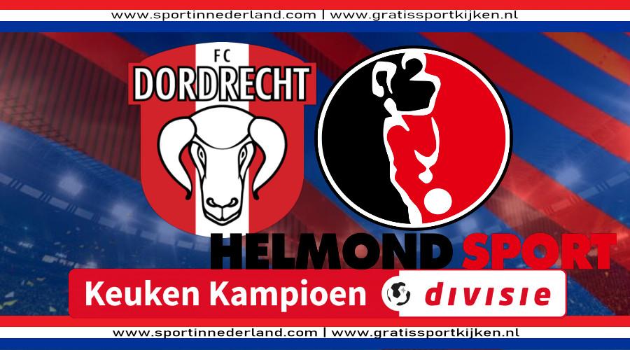 Live stream FC Dordrecht - Helmond Sport