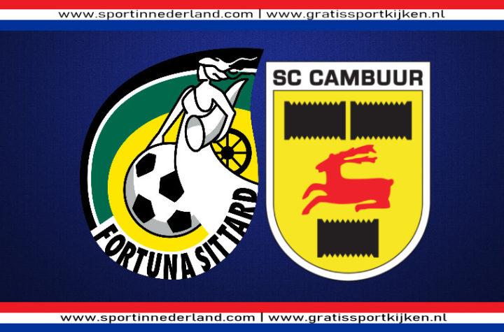 Live stream Fortuna Sittard - SC Cambuur
