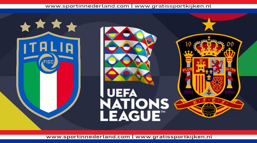 Live stream Italië - Spanje