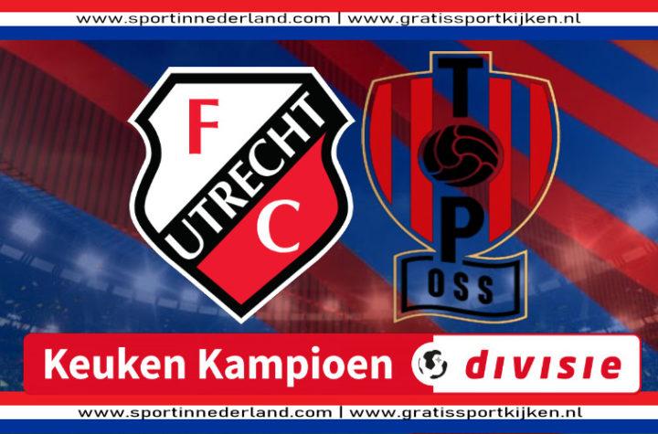 Live stream Jong FC Utrecht - TOP Oss