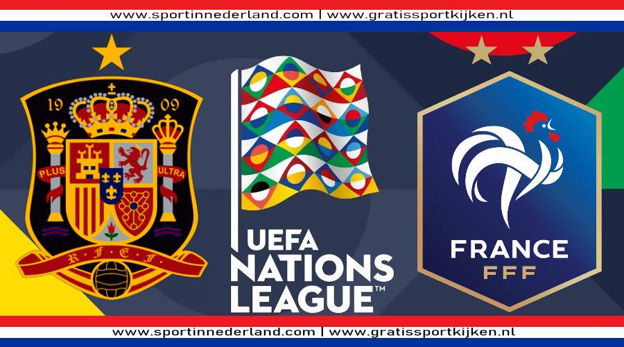 Nations League live stream Spanje - Frankrijk