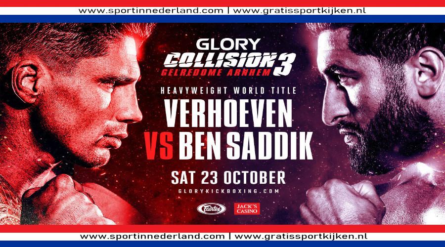 Programma Glory 79 met Rico Verhoeven - Ben Saddik (Foto Glory Kickboxing)