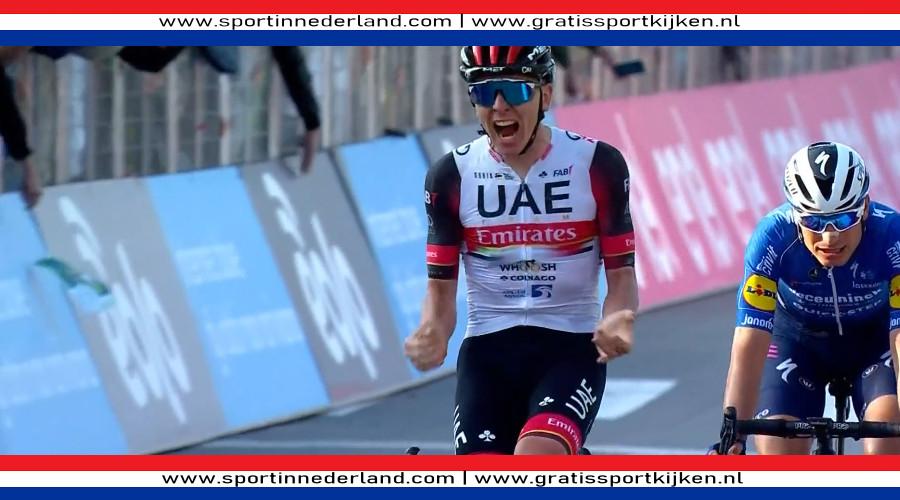 Tadej Pogacar wint Ronde van Lombardije