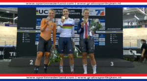 Zilver Maike van der Duin bij WK baanwielrennen
